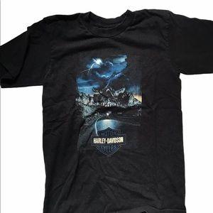 Harley Davidson Men's Black Motorcycle T-Shirt